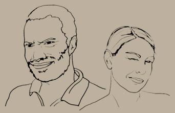 Brigitte et Edouard Sombié, fondateurs de Volta Jazz